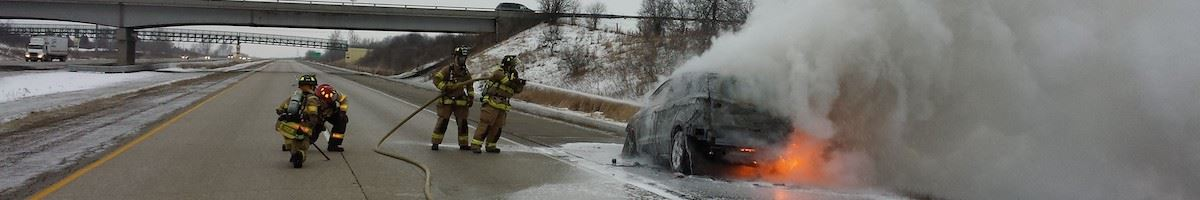 Interstate Car Fire2