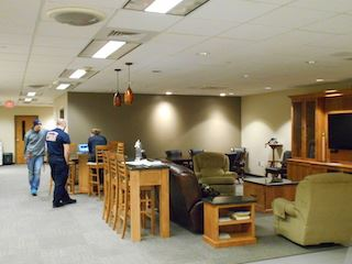 Firefighters in Fire Station lounge area